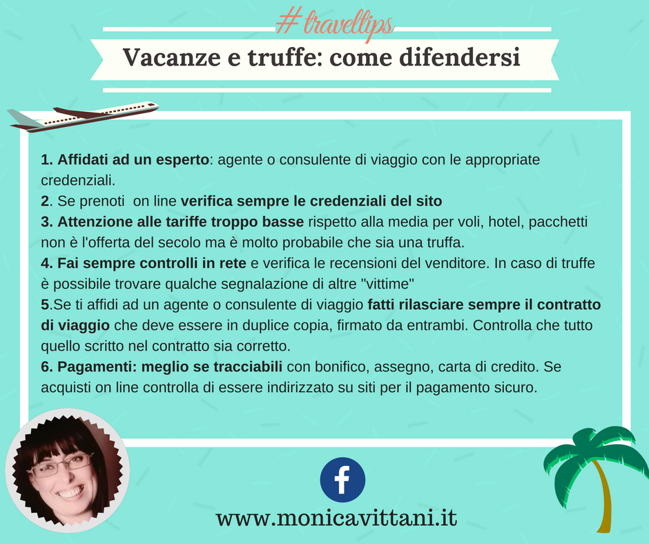 Travel Tips - Vacanze e truffe: come difendersi