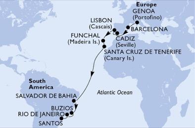 Msc Seaview Europa- Brasile