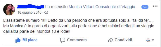 Recensioni Monica Vittani Consulente di viaggio