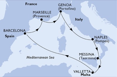 Msc Seaview itinerario