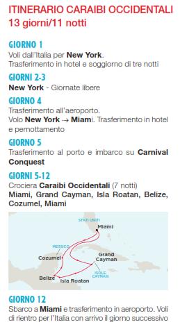 Crociera Carnival Caraibi Occidentali