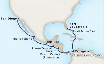 Da Fort Lauderdale a San Diego attraversando il canale di Panama