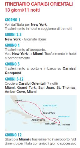 Carnival Crociera Caraibi Orientali